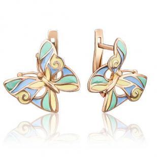 Летние золотые бабочки с эмалью фото