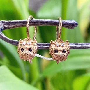 Золотые сережки Йорки фото