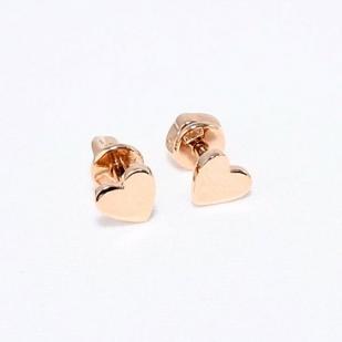 Золотые гвоздики сердечки 6мм фото
