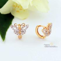 """Серьги для малышки """"Бабочки"""" из золота"""