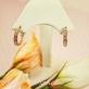 Серьги-кольца с фианитами