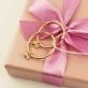 Золотые конго с подвесками сердечками