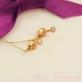 Маленькие золотые гвоздики фианиты