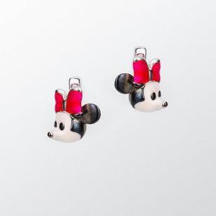 Детские сережки Минни маус серебряные фото