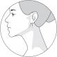 Серебряные серьги-кольца с белом эмалью 94021241