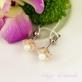 Серебряные серьги Перламутровый цветок
