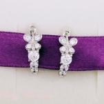 Серебряные серьги с фианитами для принцессы
