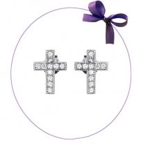 Серебряные гвоздики в форме крестиков