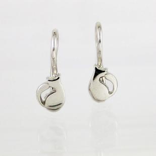Серебряные серьги Кисуля фото