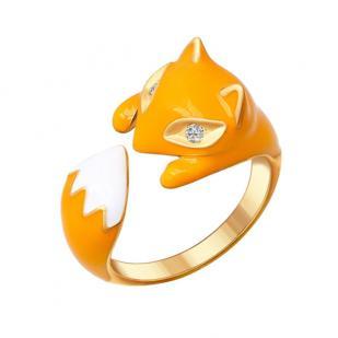 Серебряное кольцо Лиса 93010511 фото