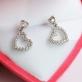 Серебряные серьги Два сердца