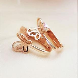 Серьги для девочек золотые бабочки фото