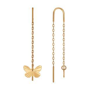 Серьги протяжки с бабочками фото