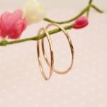 Золотые серьги - круги (конго)