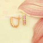 Золотые дорожки для девочки с розовыми фианитами
