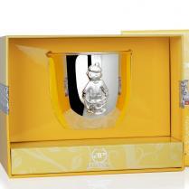 Детский стакан Мальчик серебряный