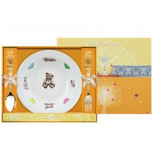 Детский набор с тарелкой Мишка  фото