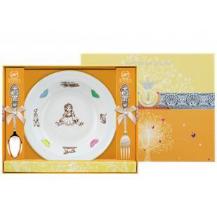 Детский набор с тарелкой Девочка  фото