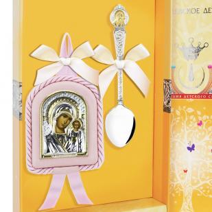 Набор крестильный для девочки Казанская БМ