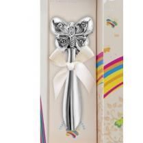 Серебряная погремушка Бабочка