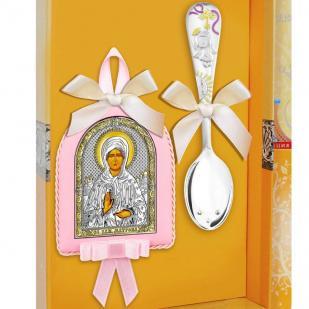 Набор крестильный для девочки с Матроной фото