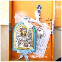 Набор крестильный для мальчика Ангел-Хранитель