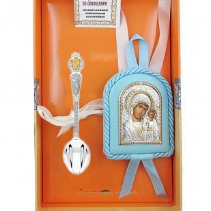 Набор крестильный для мальчика Казанская БМ фото