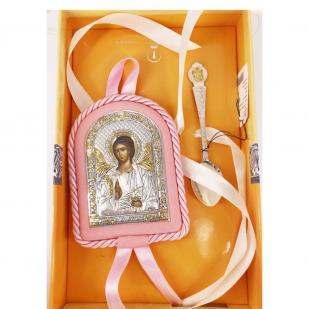 Набор крестильный для девочки Ангел-Хранитель фото