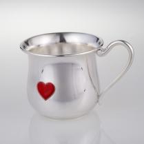 """Серебряная чашка """"Сердечко"""""""