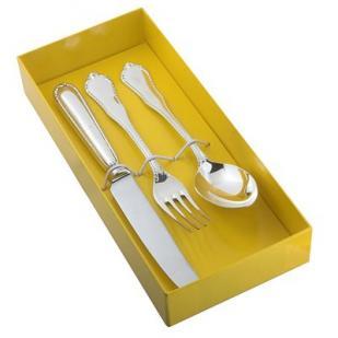 Десертный набор Рококо из трех предметов (юниор) фото