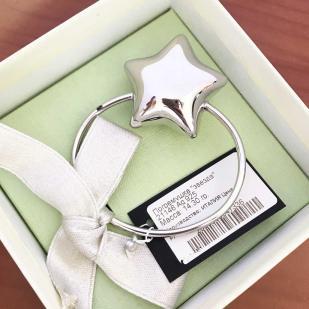 Погремушка детская Звездочка из серебра фото